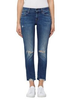 J Brand Sadey Crop Slim Straight Leg Jeans (Revoke Destruct)