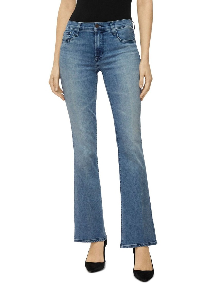 J Brand Sallie Mid Rise Bootcut Jeans in Fix Up