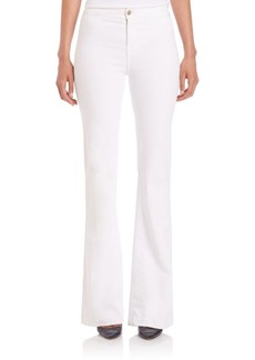 J BRAND Sateen High-Rise Tailored Flare Jeans