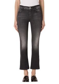 J Brand Selena Crop Bootcut Jeans (Black Heath)
