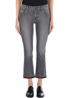 J Brand Selena Crop Bootcut Jeans (Earl Grey)