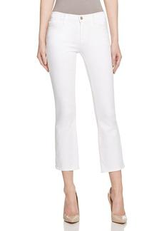 J Brand Selena Crop Bootcut Jeans in Blanc