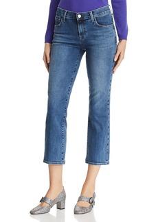 J Brand Selena Crop Bootcut Jeans in Polaris Destruct