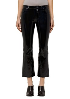 J Brand Selena Crop Bootcut Patent Leather Jeans