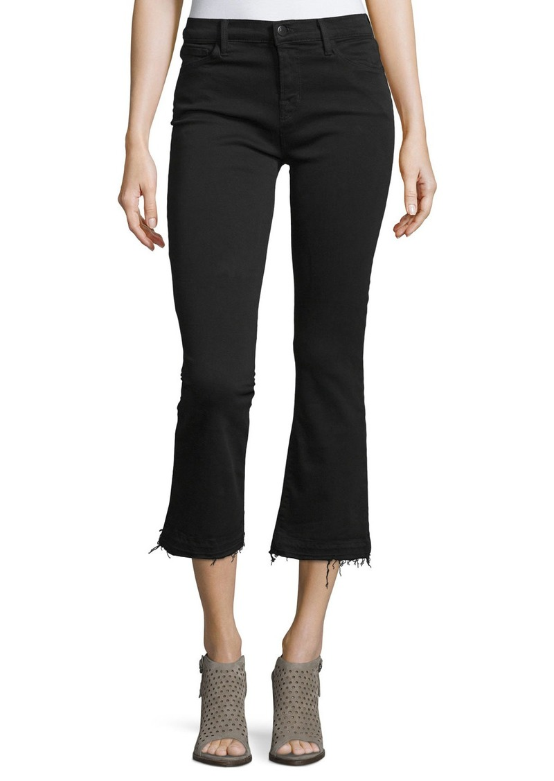 J Brand Selena Cropped Boot-Cut Jeans  Black