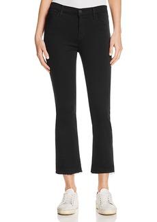 J Brand Selena Cropped Bootcut Jeans in Black Bastille