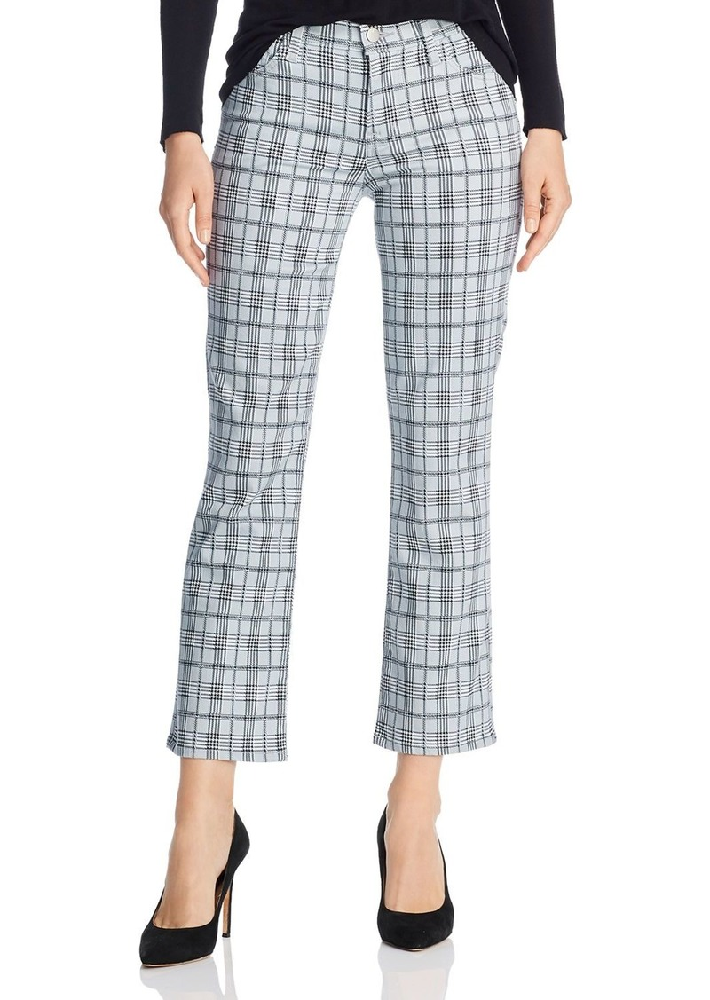 J Brand Selena Cropped Bootcut Jeans in Silverspoon Plaid - 100% Exclusive
