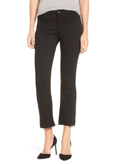 J Brand 'Selena' Frayed Crop Jeans (Black Bastille)