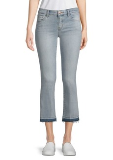 Selena Mid-Rise Bootcut Cropped Jeans