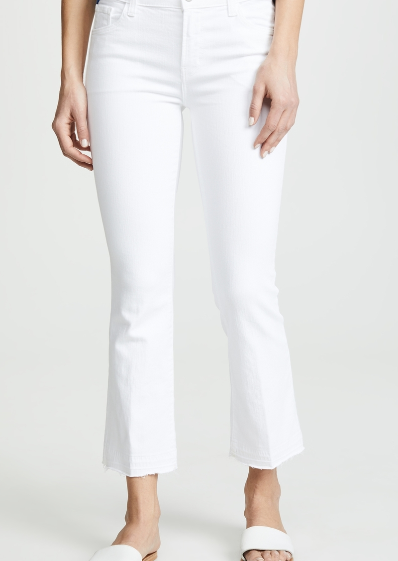 J Brand Selena Mid Rise Crop Boot Cut Jeans