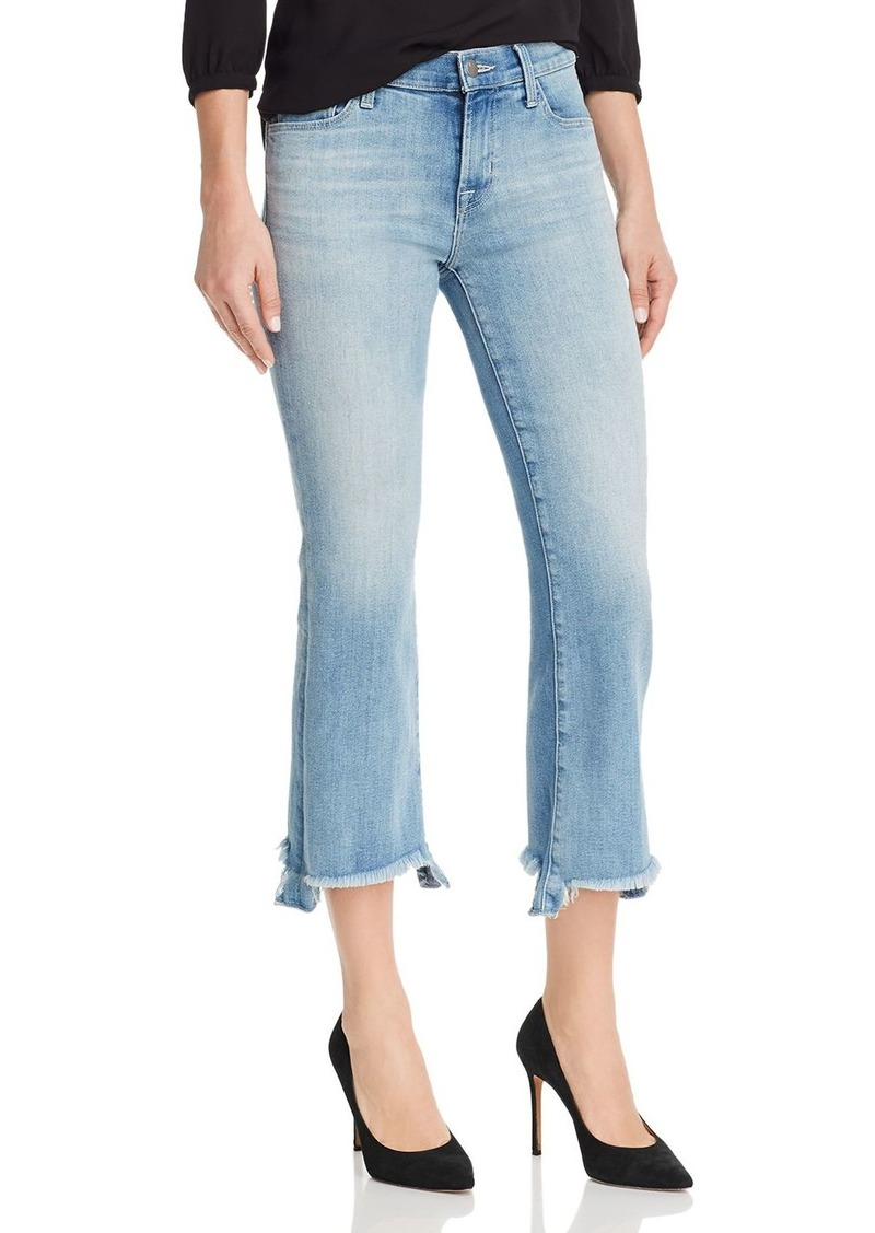 J Brand Selena Mid Rise Crop Bootcut Jeans in Orion