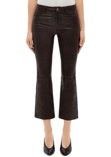 J Brand Selena Mid Rise Crop Bootcut Leather Jeans