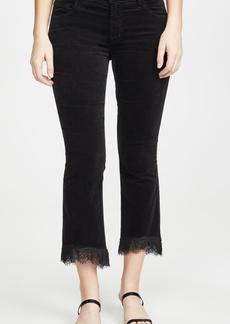 J Brand Selena Mid Rise Crop Bootcut Pants