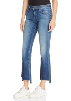 J Brand Selena Mid Rise Crop Jeans in Decoy
