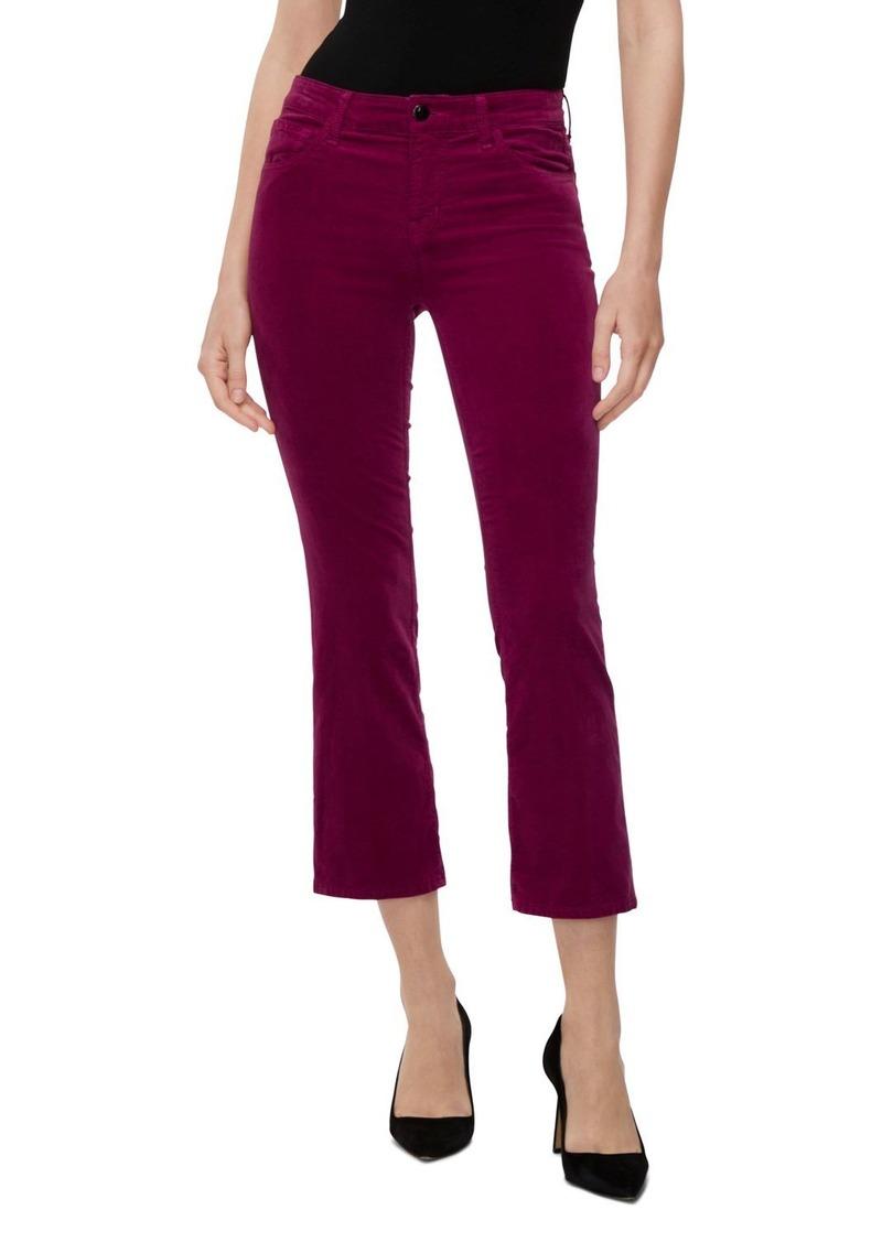J Brand Selena Mid-Rise Crop Velvet Jeans in Victoria