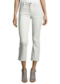 J Brand Selena Mid-Rise Cropped Boot-Cut Corduroy Jeans