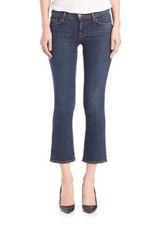 J BRAND Selena Mid-Rise Cropped Bootcut Jeans