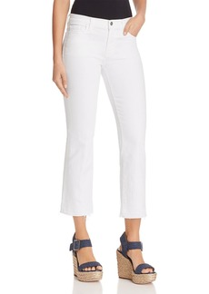 J Brand Selena Mide Rise Crop Bootcut Jeans in Blanc