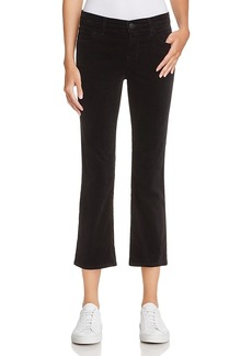 J Brand Selena Velvet Crop Bootcut Jeans in Black