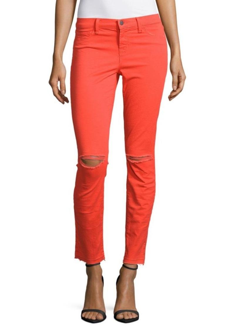 j brand j brand skinny distressed jeans denim shop it to me. Black Bedroom Furniture Sets. Home Design Ideas