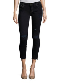 J BRAND Skinny-Fit Low-Rise Cropped Jeans