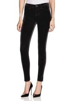 J Brand Skinny Velvet Jeans in Black
