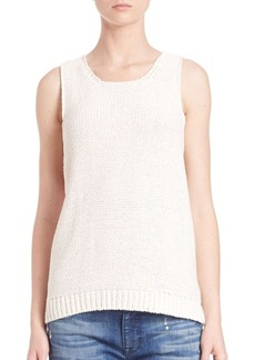 J BRAND Sleeveless Chunky-Knit Cutout Sweater