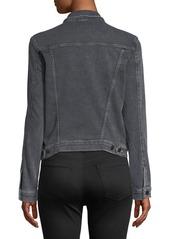 J Brand Slim Button-Front Denim Jacket