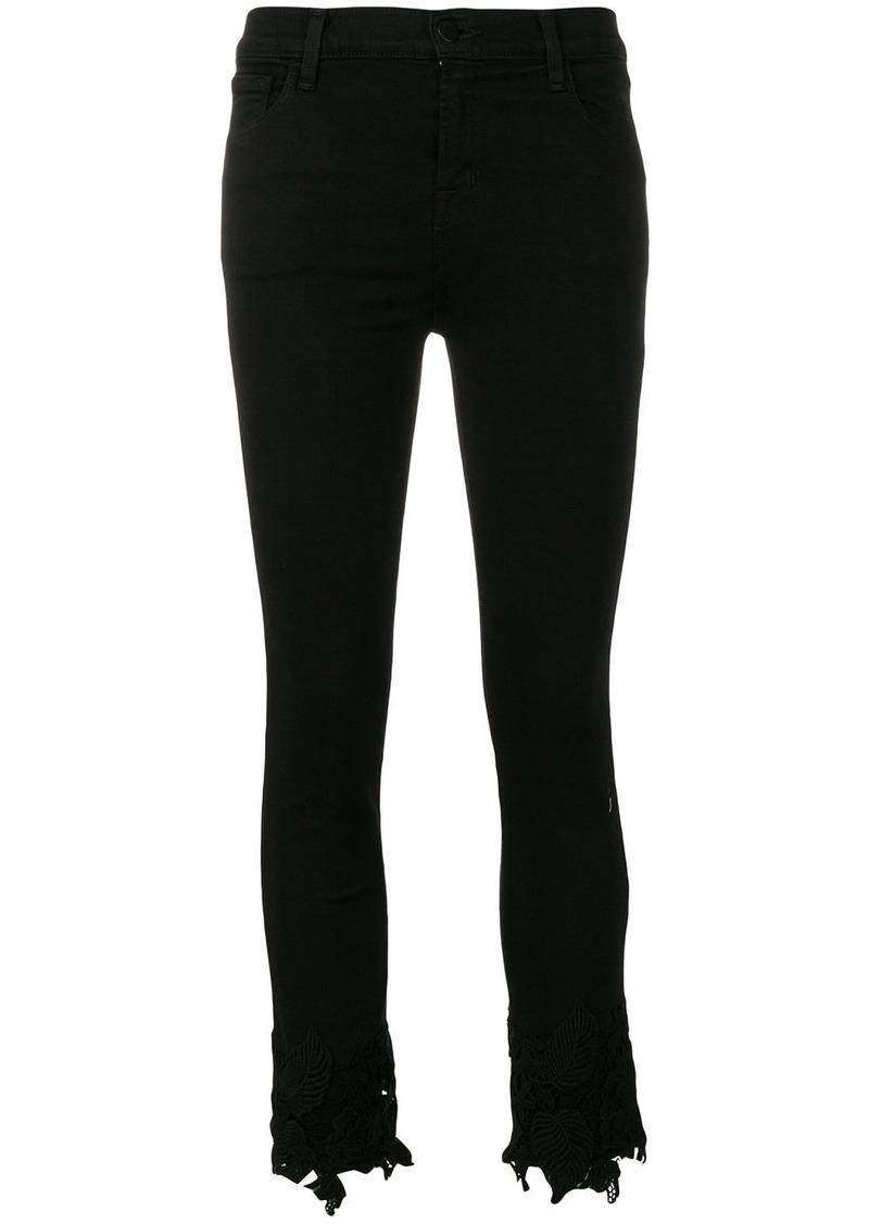 J Brand slim cropped trousers - Black