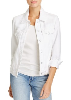 J Brand Slim Denim Jacket in Optic White