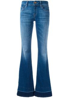 J Brand slit sides flared jeans - Blue