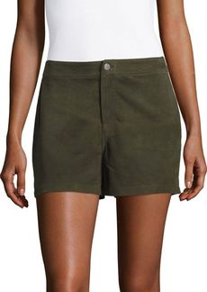 J BRAND Solid Suede Shorts