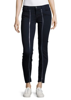 J BRAND Solid Zippered Ankle Jeans