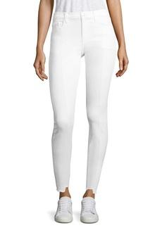 Step Hem Pintuck Skinny Jeans