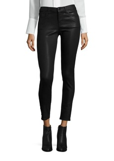 620 Mid-Rise Super Skinny Coated Jeans