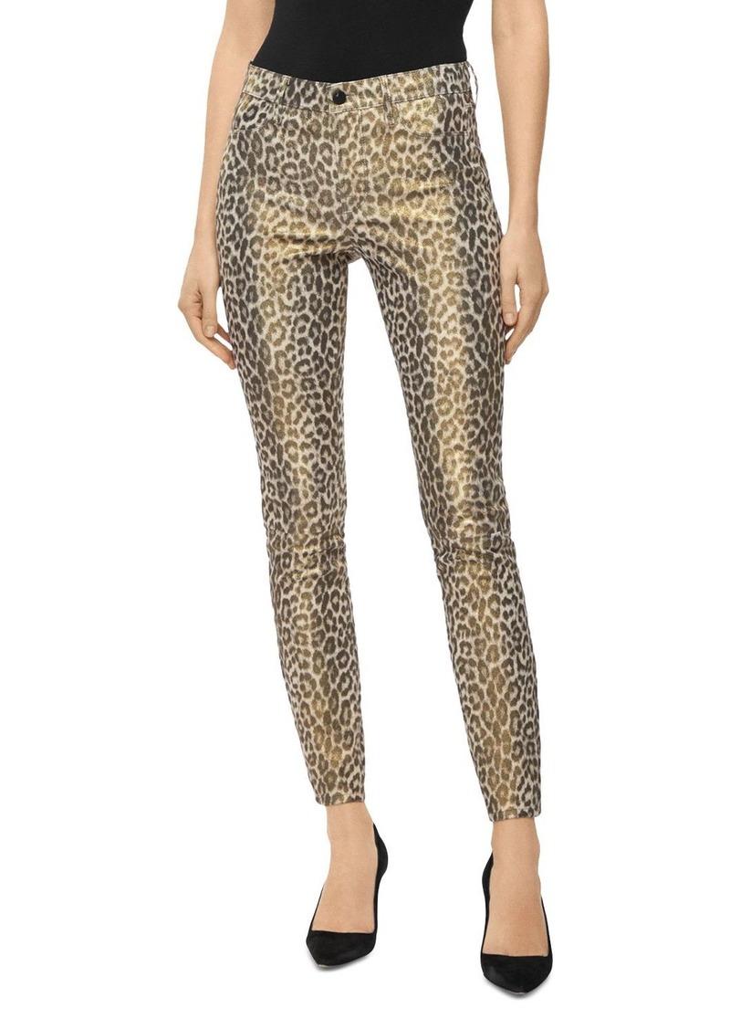 J Brand Stretch Leather Pants in Jaguar Print