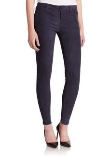 J BRAND Suede Super Skinny Jeans