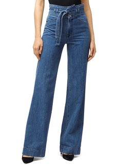 J Brand Sukey Belted High-Waist Denim Pants