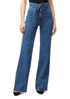 J Brand Sukey High-Rise Flared-Leg Jeans in Electrify