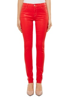 J Brand Super Skinny Jeans (Bright Coral Coated)