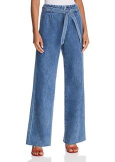 J Brand Tie-Waist Trouser Jeans in Electrify