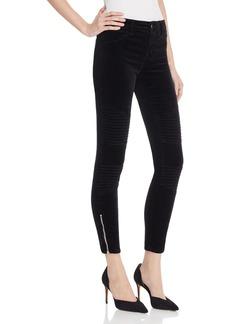J Brand Tori Moto Zip Skinny Jeans
