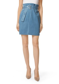 J Brand Tranquil Pleat Front Denim Skirt