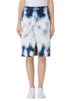 J Brand Trystan Bleached Denim Midi Skirt (Elation)