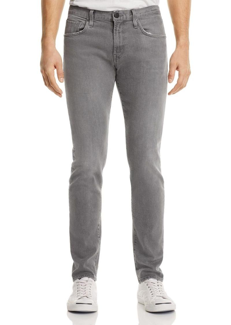 J Brand Tyler Taper Athletic Fit Jeans in Gray Luna