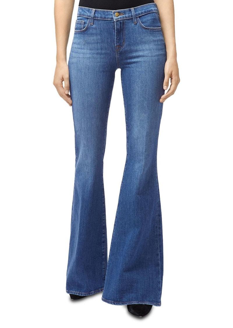 J Brand Valentina Flared Jeans in Endeavor