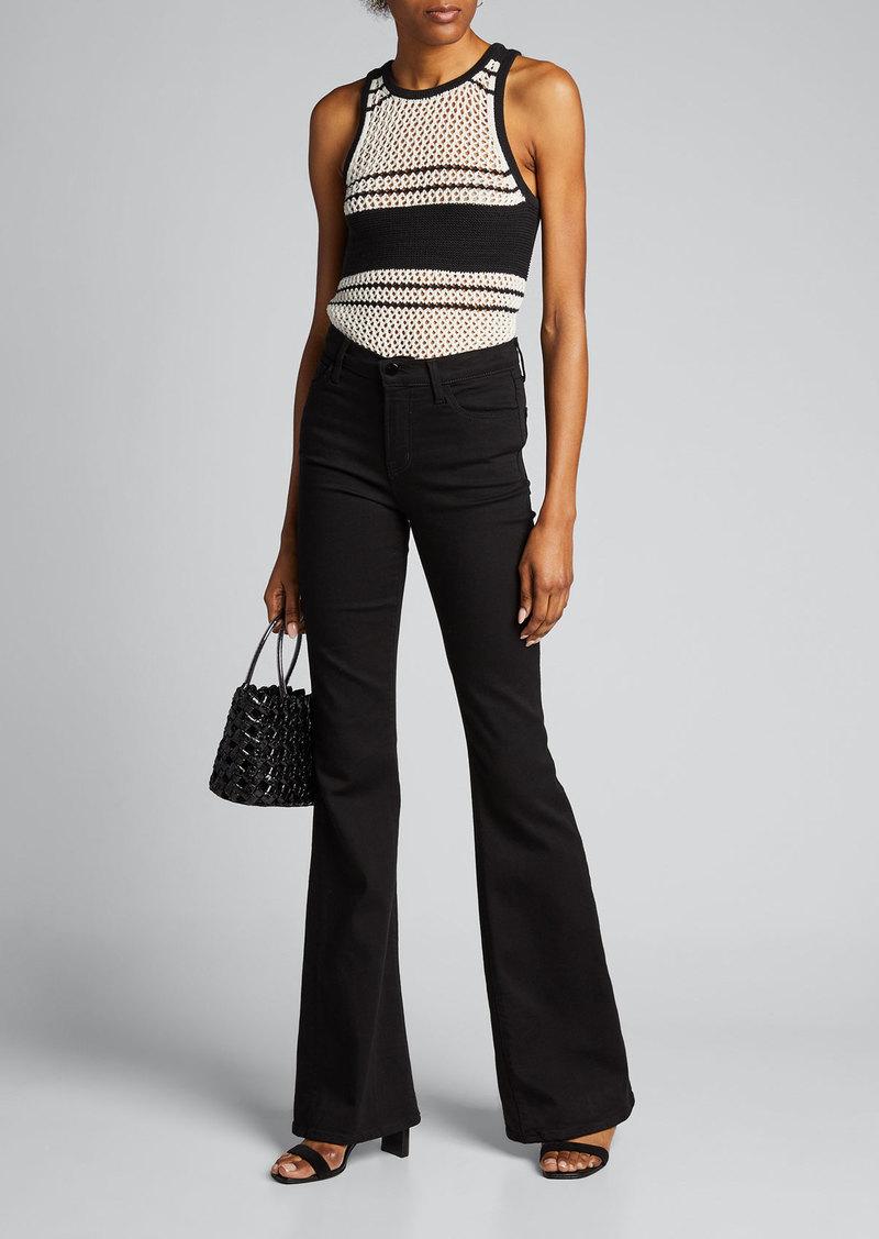 J Brand Valentina High-Rise Flare Jeans
