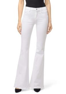 J Brand Valentina High Waist Flare Leg Jeans (Blanc)