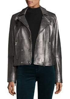 J Brand Valo Leather Moto Jacket