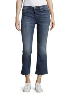 J BRAND Whiskered Five-Pocket Cropped-Cuff Jeans